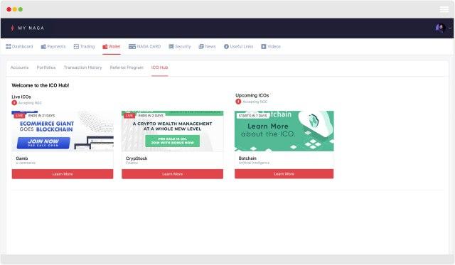 my-naga-wallet NAGA Introduces New ICO-Hub