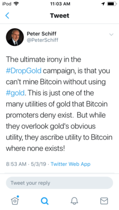 Peter Schiff Admits Bitcoin Has 'Some Appeal' But Won't Replace Gold