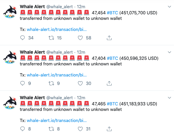 More bitcoin whale alerts