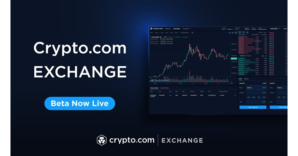 Crypto.com new beta exchange announcement