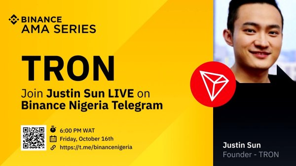 [OCTOBER 16, 2020] Founder & CEO of TRON Holding the First African AMA