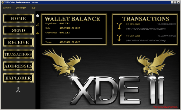 xde2-wallet