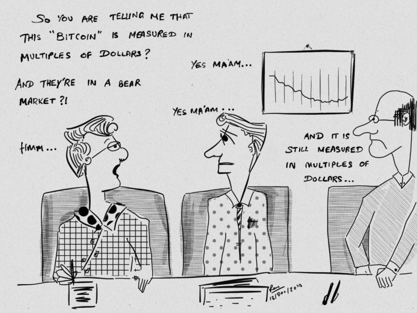 economists ponder over bitcoin bear market cartoon bitcoinnews