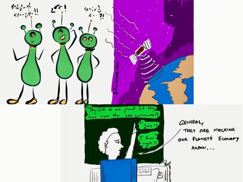 Aliens Mocking Earth Economy
