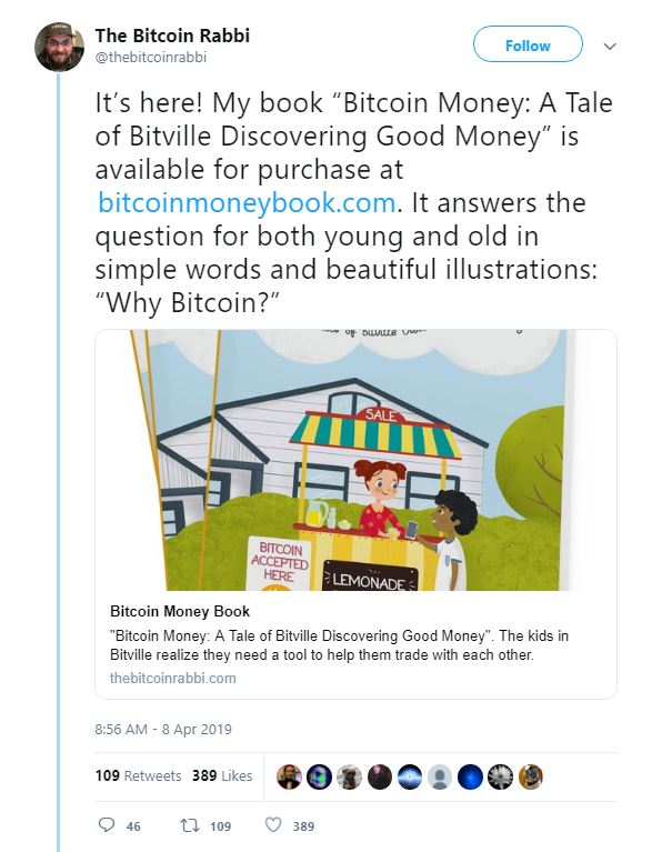 The Bitcoin Rabbi Exclusive: I Envision a World Where Bitcoin Is a Dominant Reserve Currency
