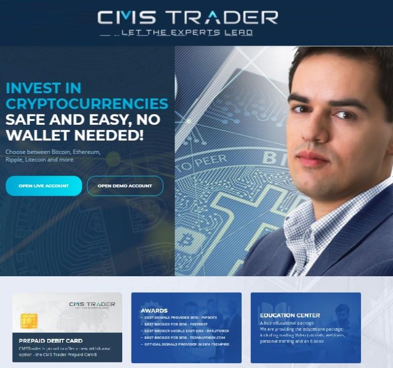 Handel mit Krypto-Währungen über CMSTrader.