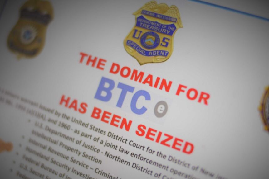 "On July 25, 2017, BTC-e users were confronted with a message saying: ""This site has been seized."""