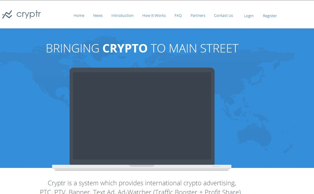 Bitcoin Advertising And Micro-Financing Platform Cryptr.ch Offers a Bitcoin Advertising Network, CPC Ads, Financing For Bitcoin Startups And Much More