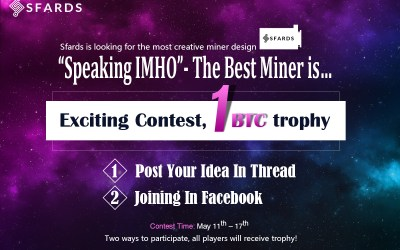 "Sfards Competition For 1 BTC: ""Speaking IMHO""- The Best Bitcoin Miner Is…1000 Free Dogecoin For All Entrants"