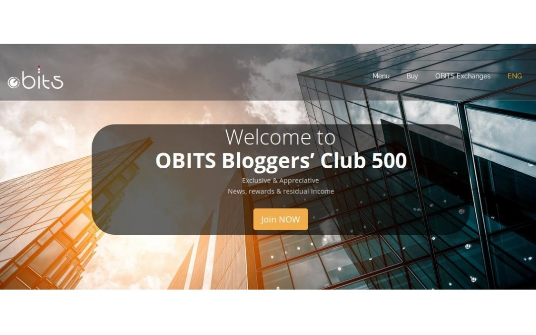 Over 11 Bitcoin Paid Out to Bloggers' Club 500 Members, Join and Get Paid to Write About Blockchain Technologies – Latest OBITS Initiative
