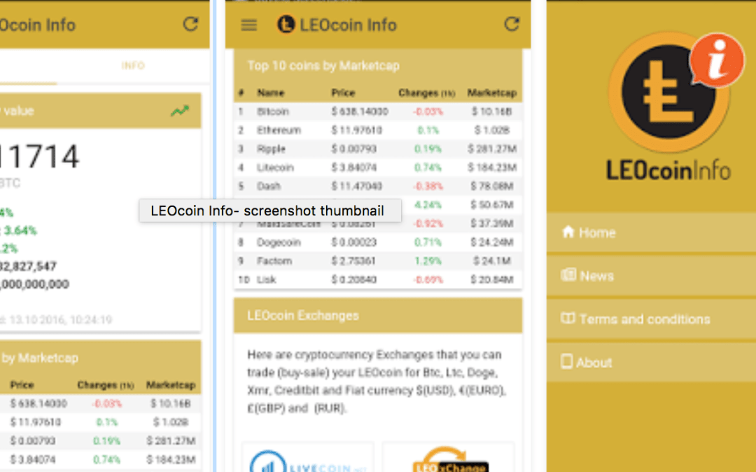 LEOcoin Community Launches LEOcoin Cryptocurrency Information Mobile Application for Android and iOS