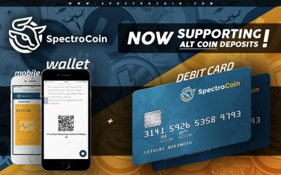SpectroCoin Announces Altcoin Support for Bitcoin Debit Cards