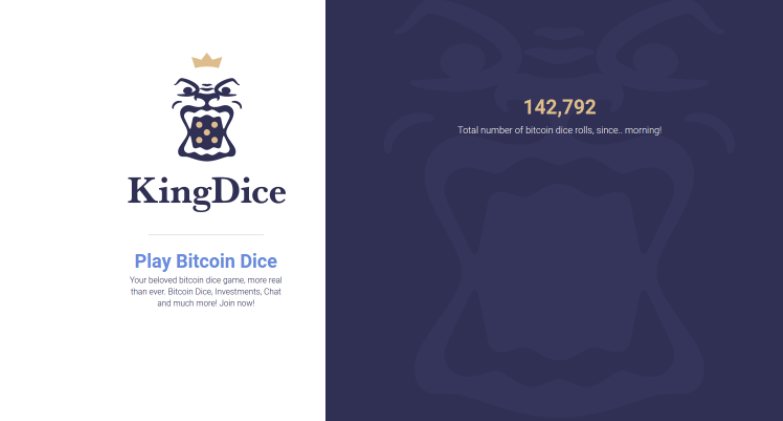 KingDice Bitcoin Dice, a New Provably Fair Bitcoin Dice Game Offers Huge Payouts