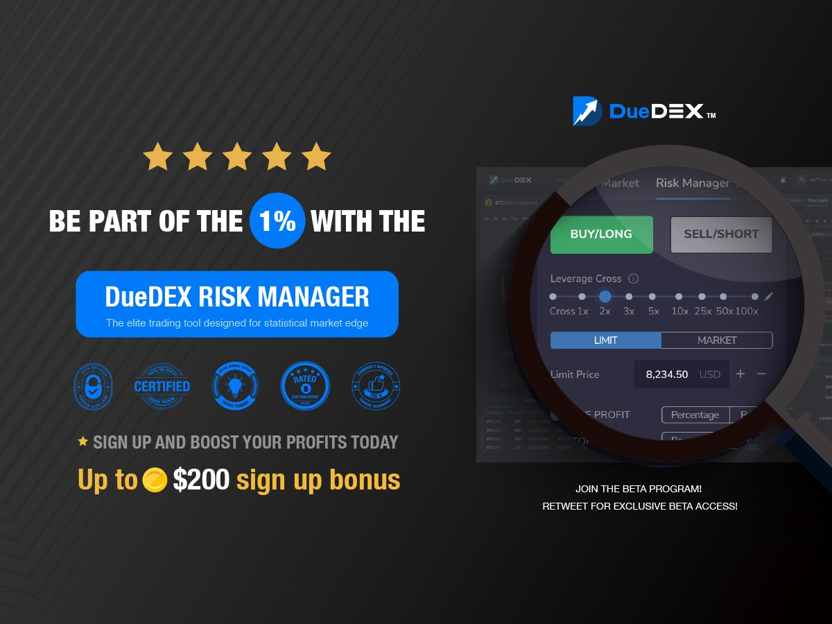 DueDEX's Risk Manager Press Release