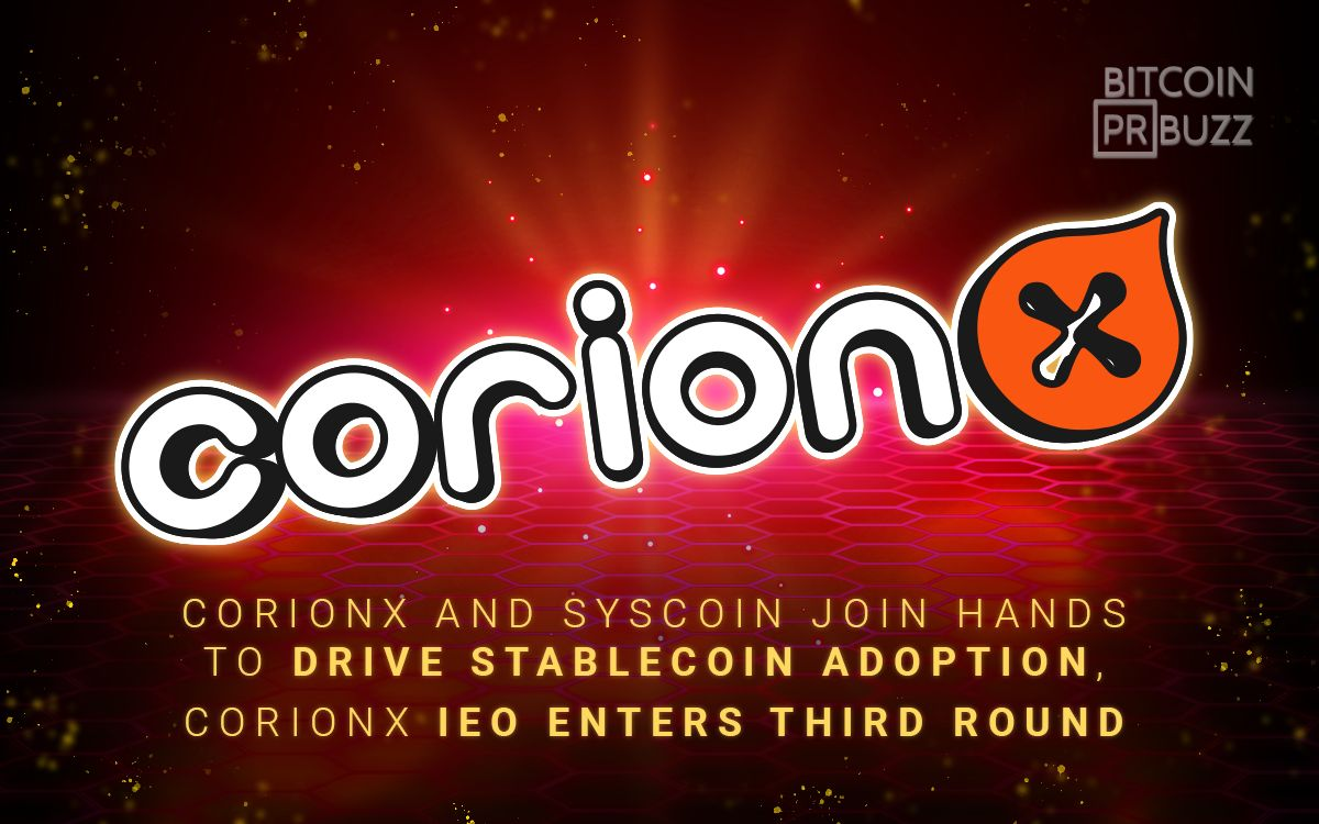 CorionX and Syscoin Join Hands to Drive Stablecoin Adoption, CorionX IEO Ente...