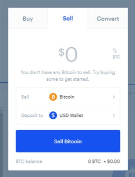 how to convert bitcoin to cash on coinbase