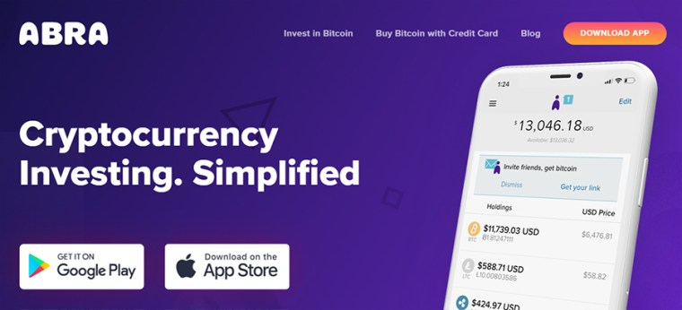 Abra Bitcoin Wallet