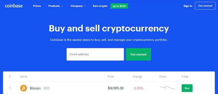 Portefeuille Bitcoin Coinbase
