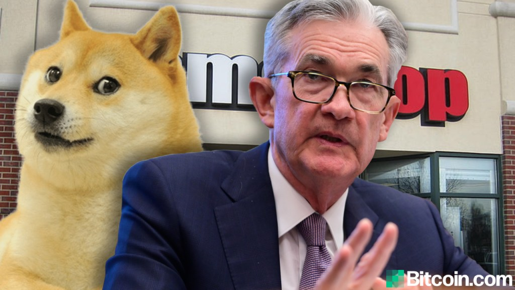 Fed Chair Jerome Powell Says Dogecoin and Gamestop Hype Highlights 'Froth in Equity Markets'