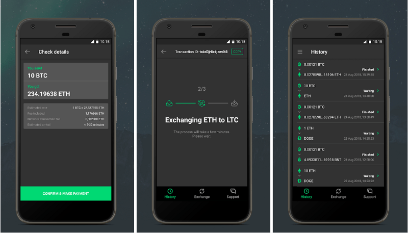 Changelly Exchange Now Available On Android - image 2 - bitcoinshirtz