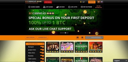 Bet with Bitcoins at Bitcasino.io
