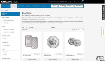 Buy a range of platinum bars and coins from mints around the world