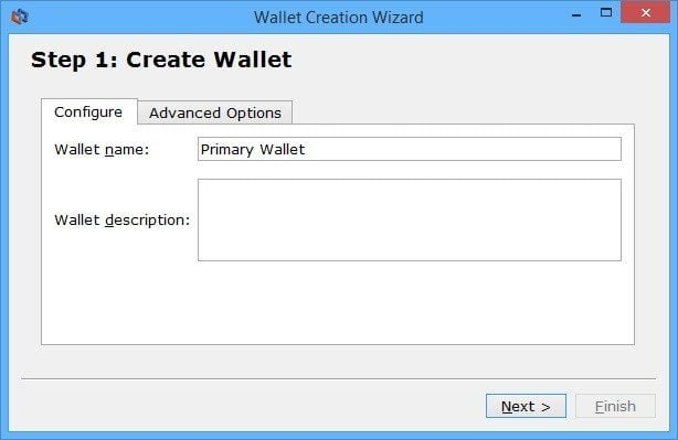 step 1 pick your wallet name