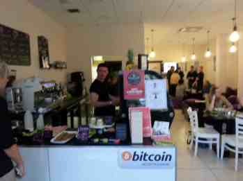 Bitcoin accepted for food and coffee Credit BANI.org.uk