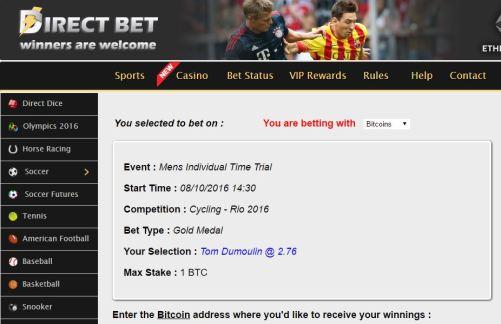 directbet olympic betting