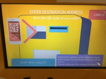 I entered my address by scanning my mobile wallet QR code