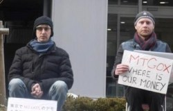 Two Mt. Gox investors sit vigil