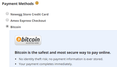bitcoin, newegg, payment, checkout