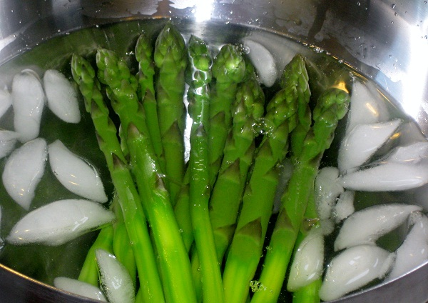 Asparagus Vinaigrette and Apple Trees Adored
