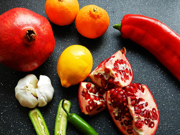 pomegranate and clemetine salsa