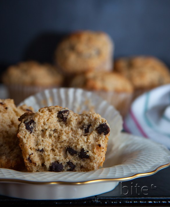 chocolate chip cinnamon whole wheat muffins