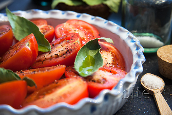 slow roasted plum tomatoes
