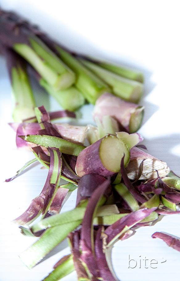 Purple Asparagus Peelings