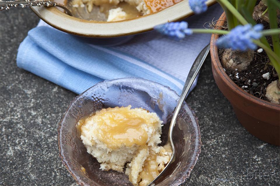 Easter Maple Pudding Cake / bitebymichelle.com