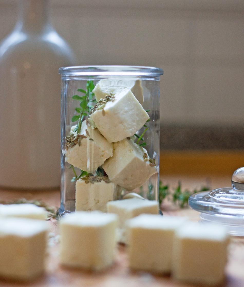 marinated feta - favorite 'must-have-in-fridge' food / bitebymichelle.com