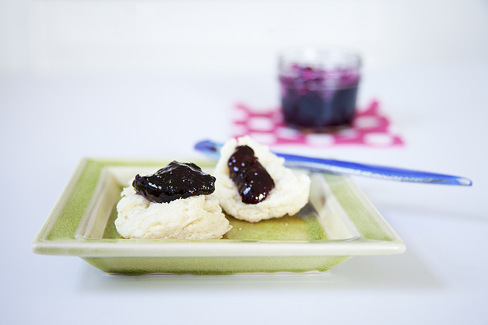 you can make wild blueberry jam with thyme