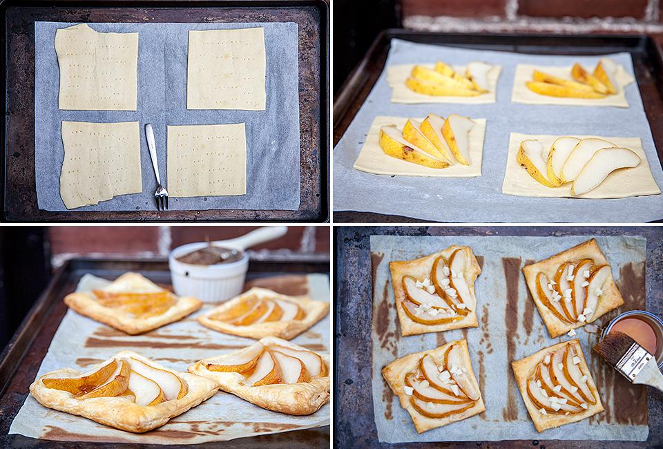 Apple Glaez Pear and Cheddar Tarts
