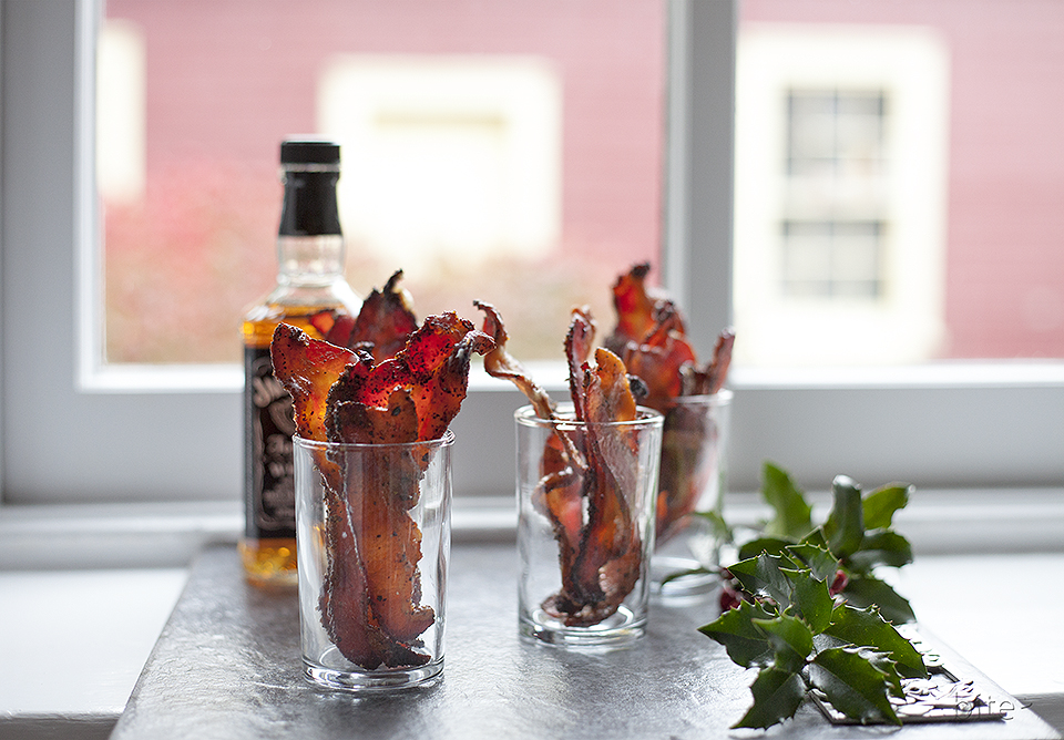 whiskey spiked maple bacon - hottest shot in town!