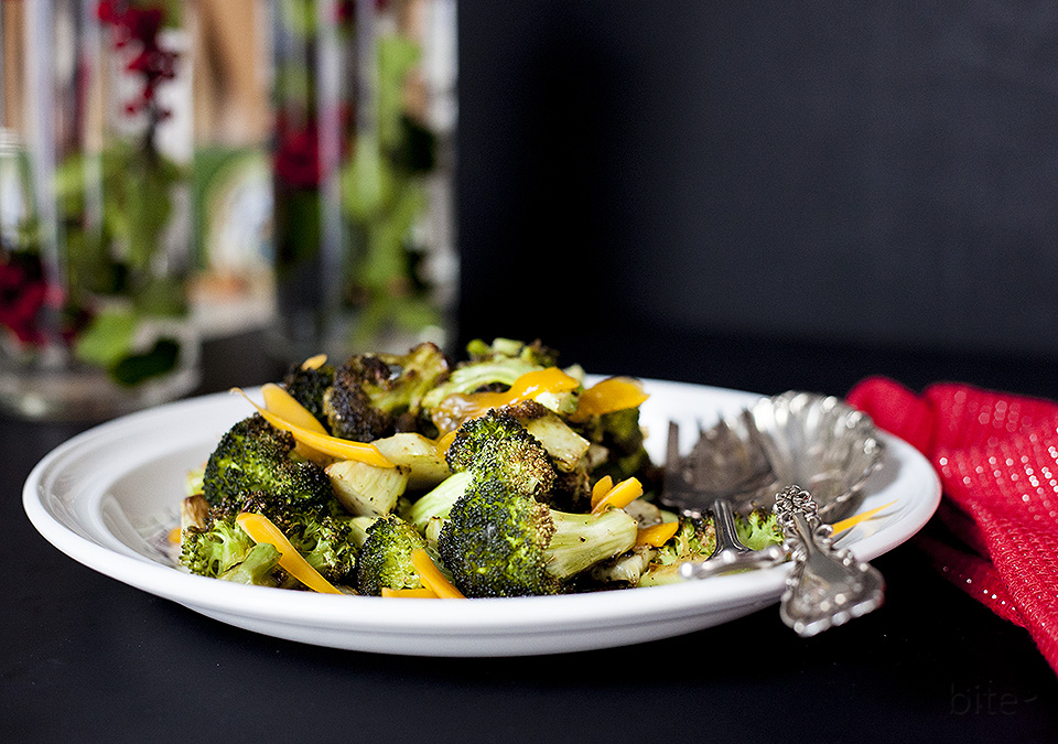 roasted broccoli – easy Christmas side dish recipe