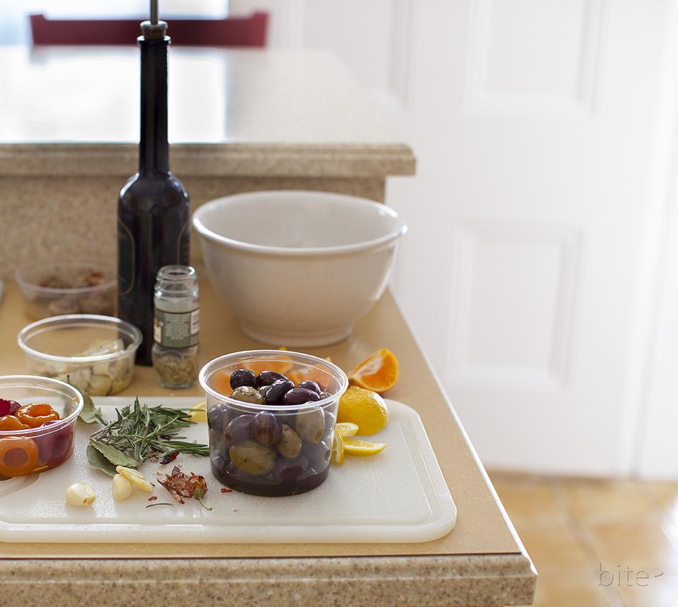 baked olive martini antipasto - date night / bitebymichelle.com