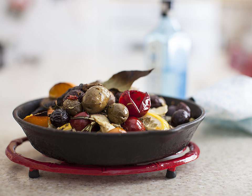 baked olive martini antipasto – date night