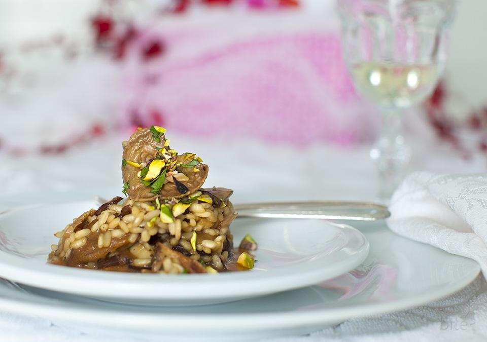 wild mushroom risotto for Valentine's Day
