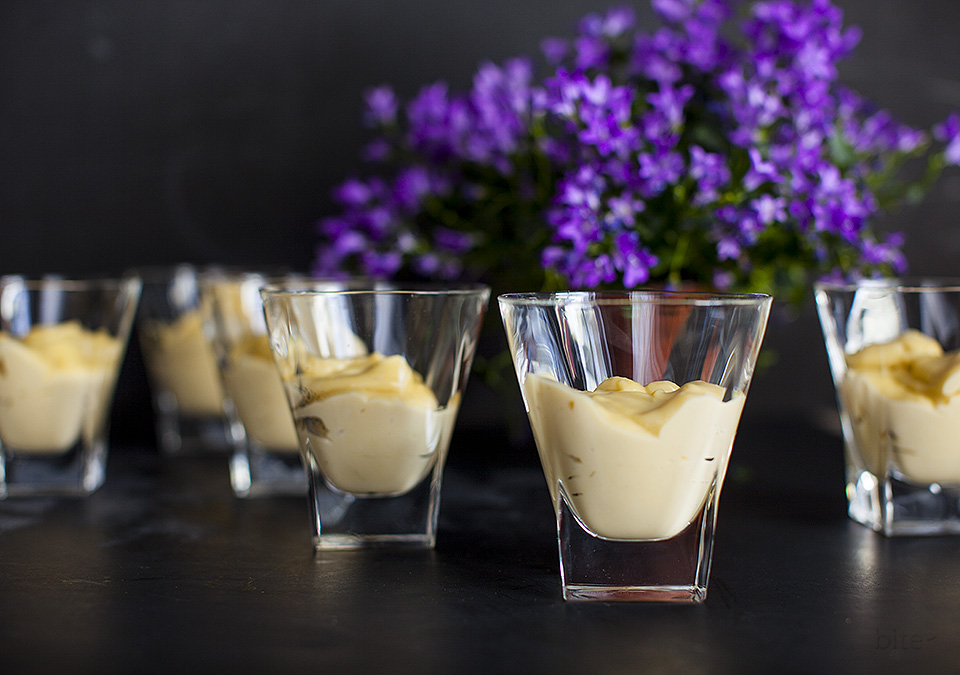 butterscotch pudding - not a powder mixed into cold milk