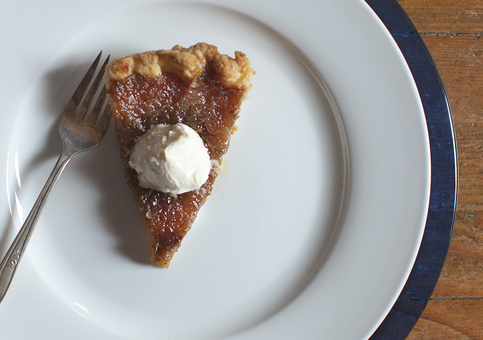 sugar pie -  a stunning combination of sweet, silk and crisp - bitebymichelle.com