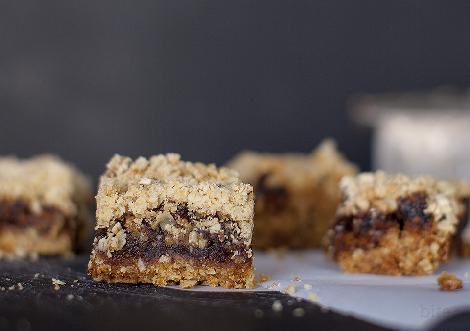 date squares; humble but delicious - happy anniversary / bitebymichelle.com