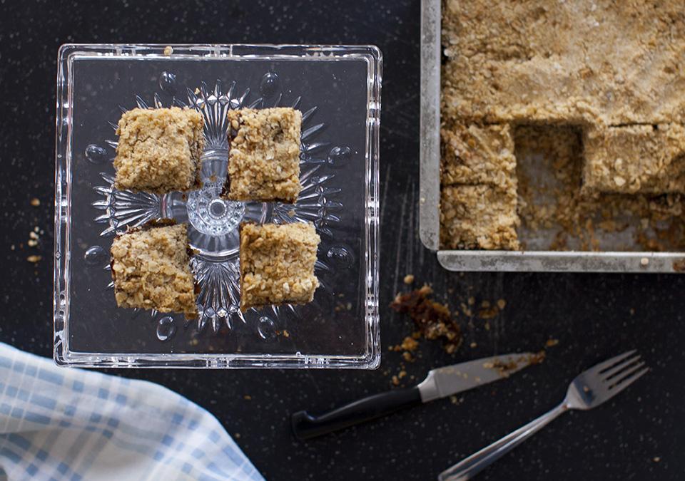 date squares; humble but delicious - happy anniversary / bitebymichelle.com